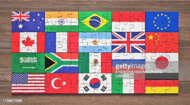 g20 member nations, illustration - national flag stock illustrations