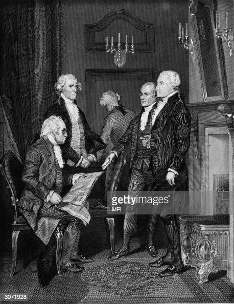 Members of Washington's first presidential cabinet and ...