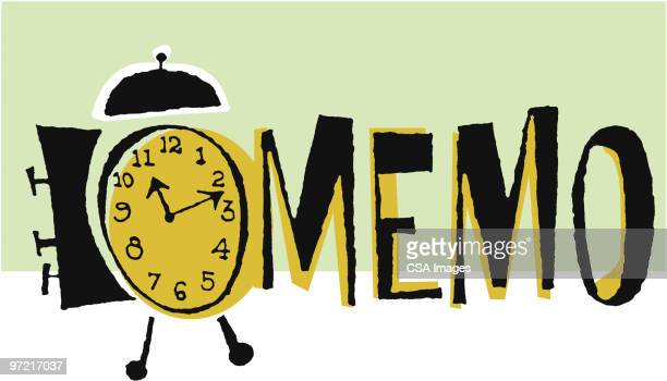 memo - minute hand stock illustrations