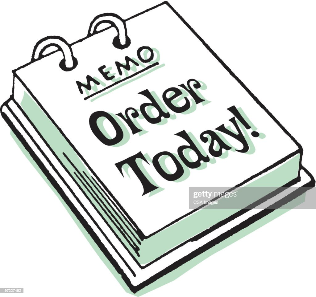 Memo Pad: Order Today! : Stock Illustration
