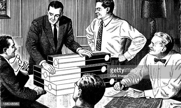 Men Having A Meeting