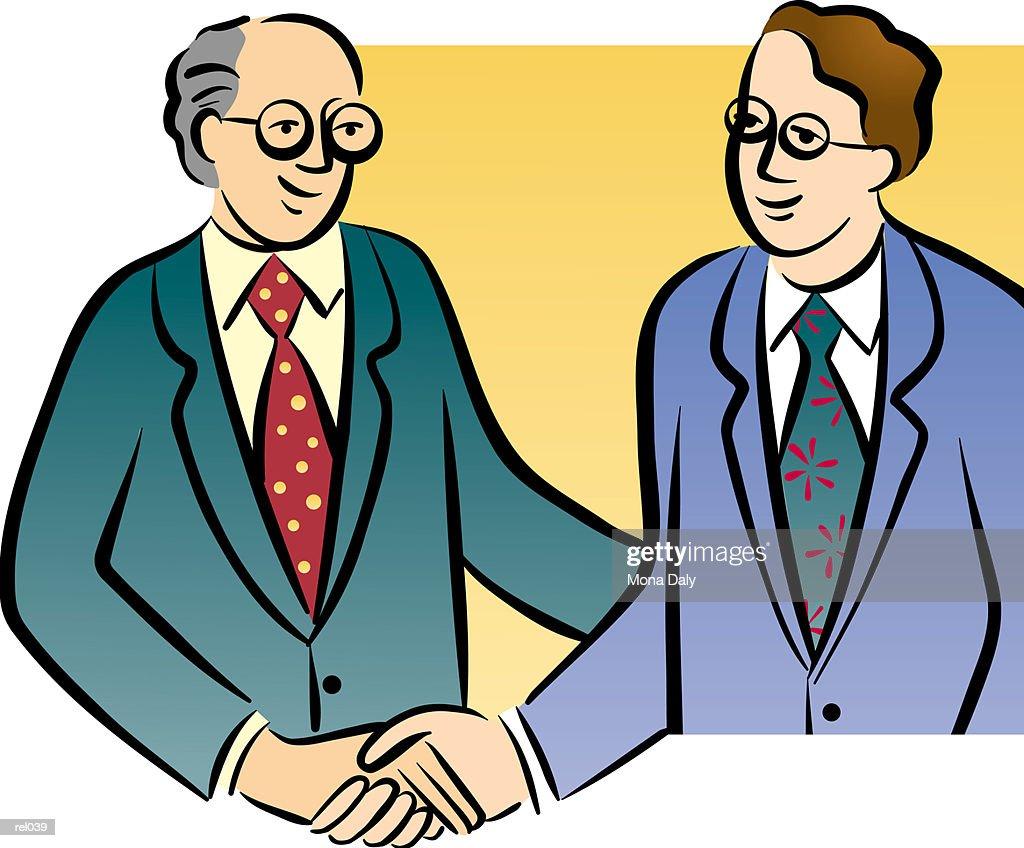 Men Shaking Hands : Ilustração de stock