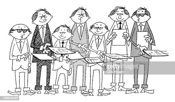 Men Shuffling Papers