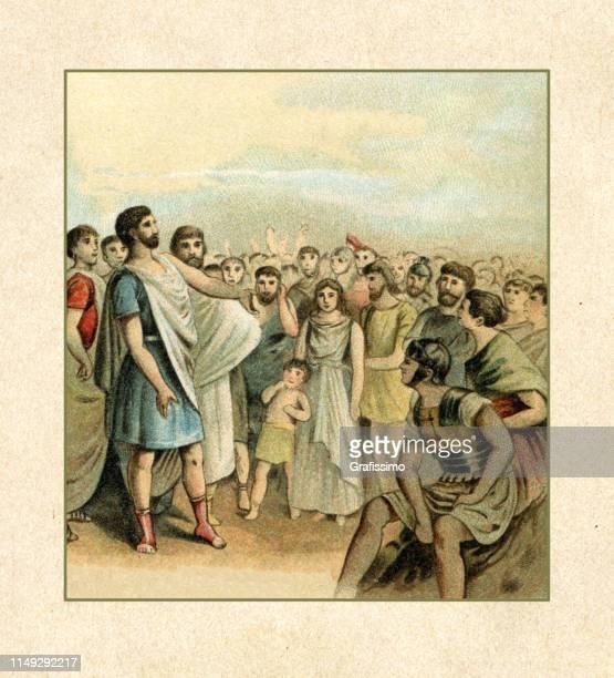 menenius agrippa konsul der römischen republik im jahre 503 v. chr. - senat stock-grafiken, -clipart, -cartoons und -symbole