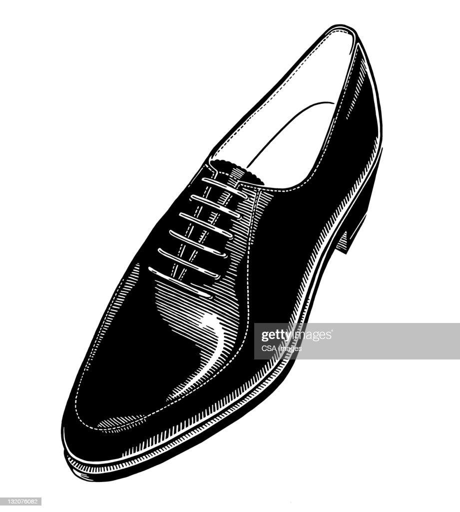 Men's Dress Shoe : stock illustration
