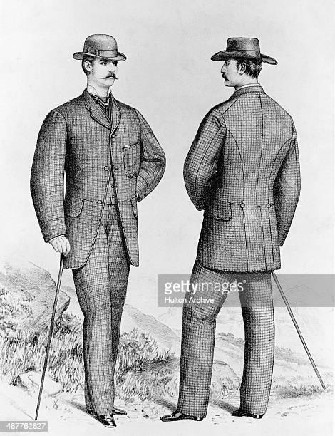 men's fashion - full length stock illustrations