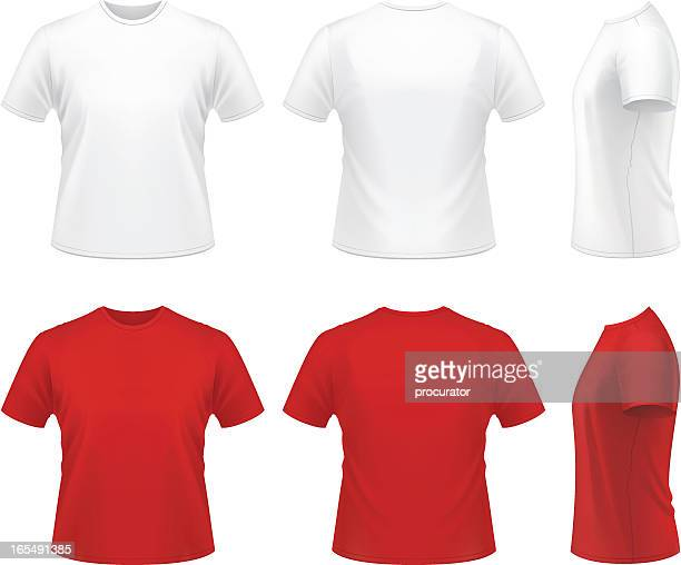 men's t-shirt - white stock illustrations