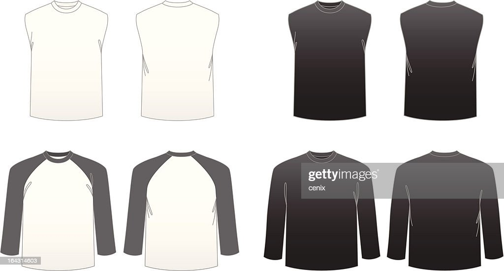 Men's T-shirt Templates-Series 3