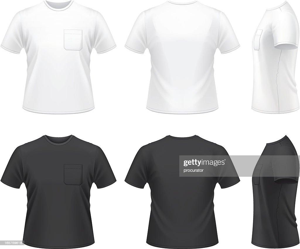 男性の T シャツにポケット : ストックイラストレーション