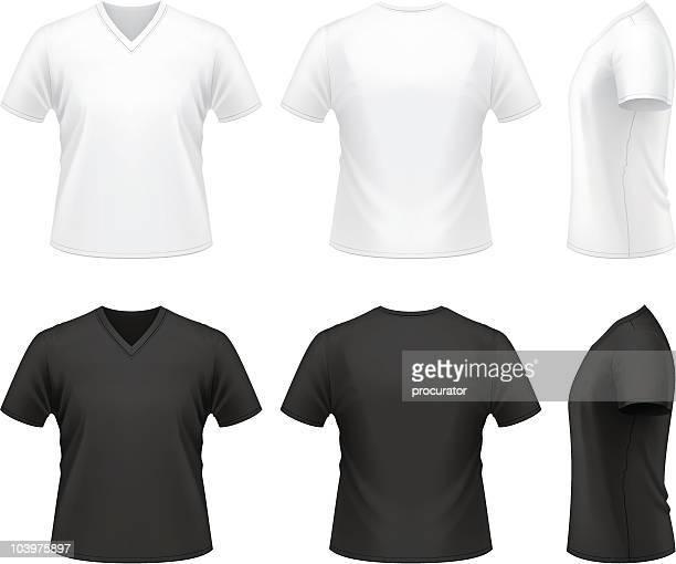 men's v-neck t-shirt - v neck stock illustrations