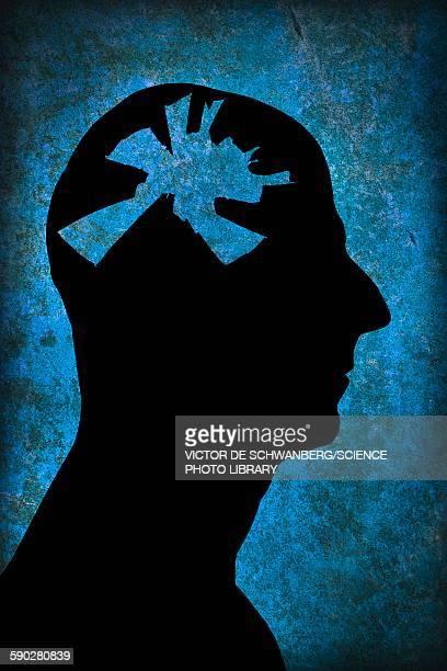illustrazioni stock, clip art, cartoni animati e icone di tendenza di mental health issues - human face