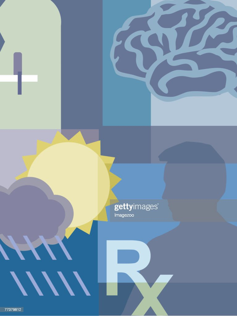 mental health issues : stock illustration