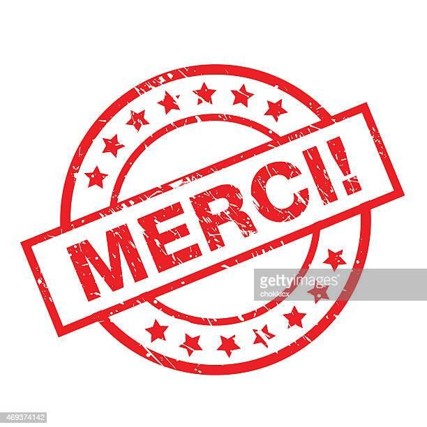 illustrations, cliparts, dessins animés et icônes de merci badge avec grunge - culture française
