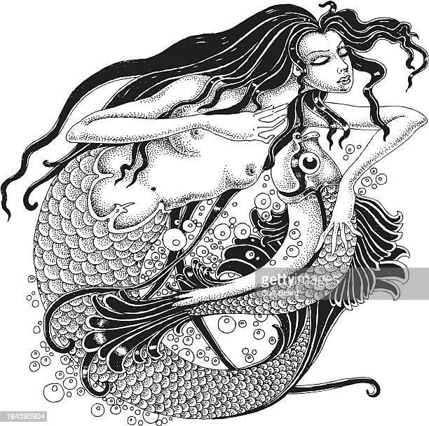 Sirena y pescado