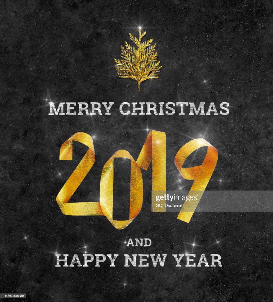 Merry Christmas And Happy New 2019 Year Christmas Card ...