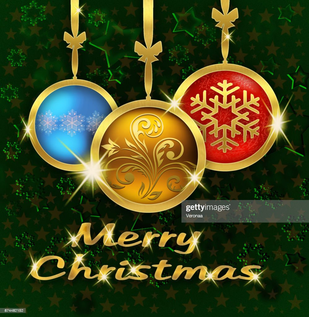 Merry christmas greeting card stock illustration getty images merry christmas greeting card stock illustration kristyandbryce Images