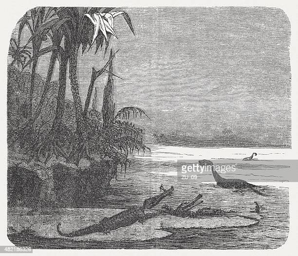Mesozoic creatures, published in 1868