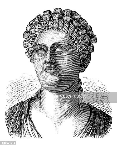 messalina, wife of the roman emperor claudius - empress stock illustrations, clip art, cartoons, & icons