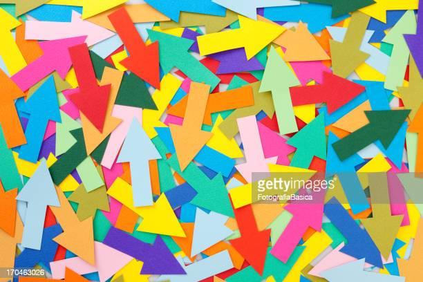 ilustraciones, imágenes clip art, dibujos animados e iconos de stock de desordenado flechas - dirección