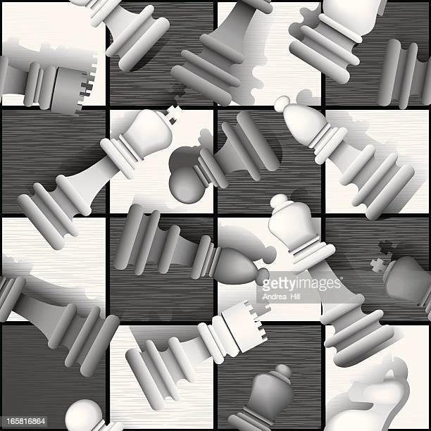 ilustraciones, imágenes clip art, dibujos animados e iconos de stock de ajedrez patrón sin costuras de metal - tablero de ajedrez