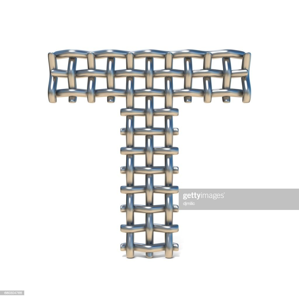 Metal Wire Mesh Font Letter T 3d Stock Illustration | Getty Images