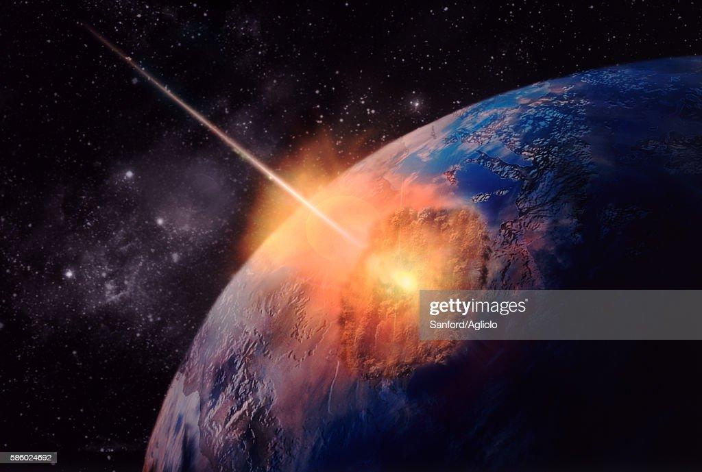 Meteorite disaster : stock illustration