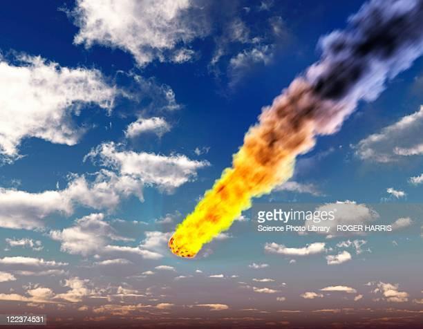 Meteorite in Earth's atmosphere, artwork