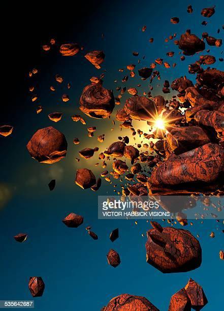 Meteors in space