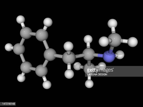 methamphetamine drug molecule - methamphetamine stock illustrations, clip art, cartoons, & icons