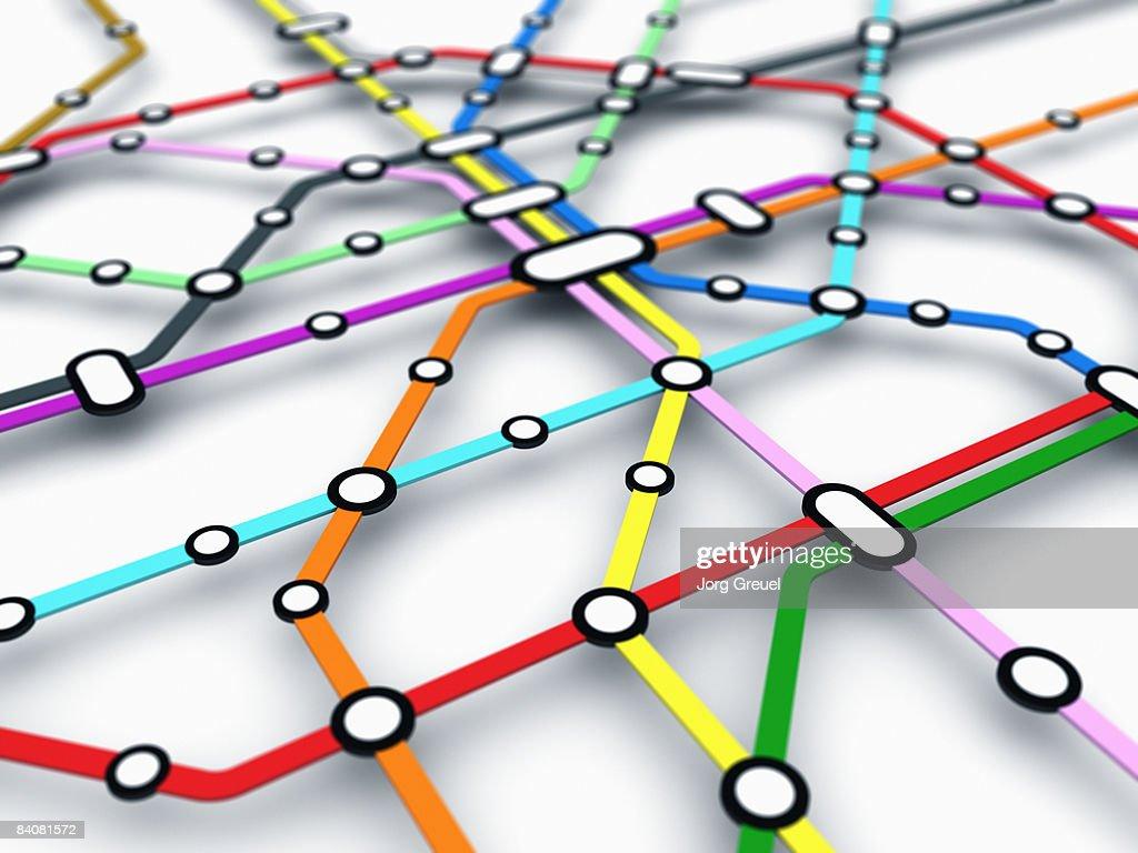 Metro map : stock illustration