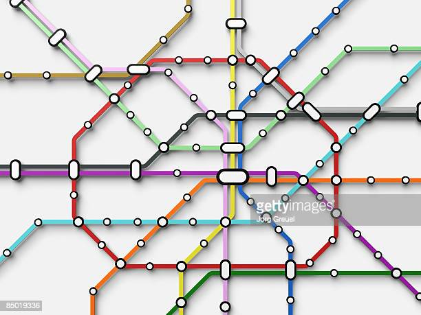 metro map - complexity stock illustrations