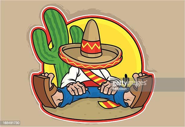 mexican design - sombrero stock illustrations