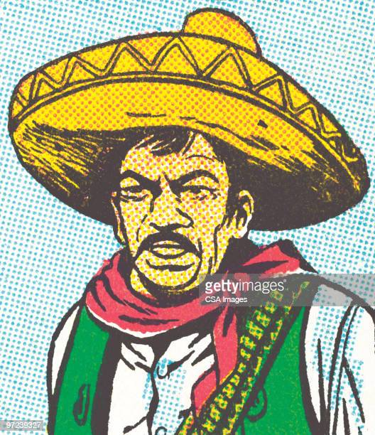 mexican - sombrero stock illustrations