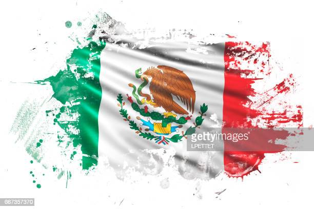 Bandera de Grunge mexicano tinta