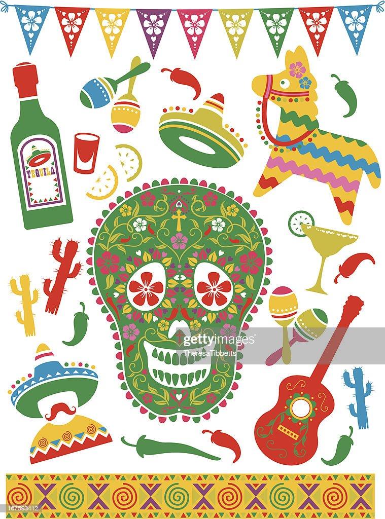Ícones de Mexicano : Ilustração de stock