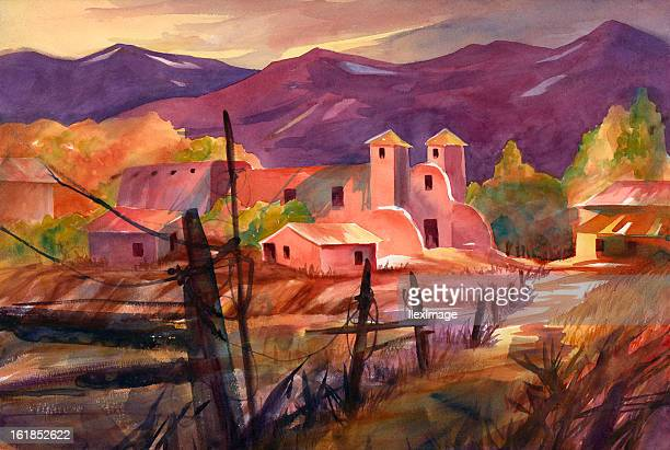 mexican village - mexico stock illustrations