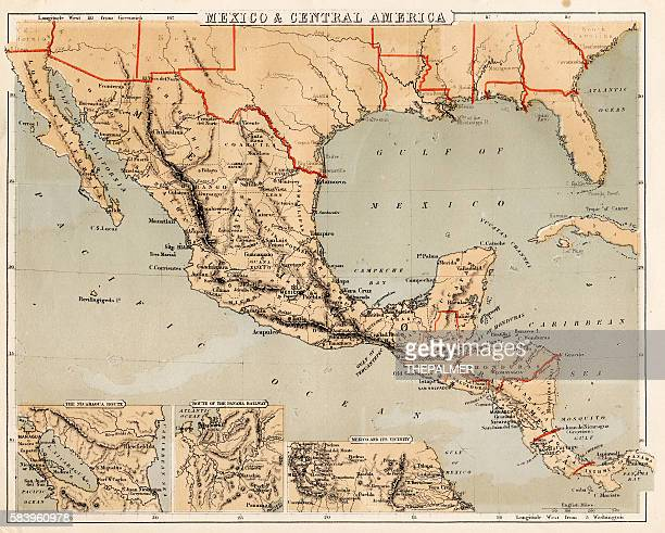Mexico and Central America map 1869