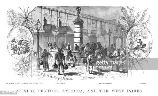 Mexico Central america scene illustration 1886