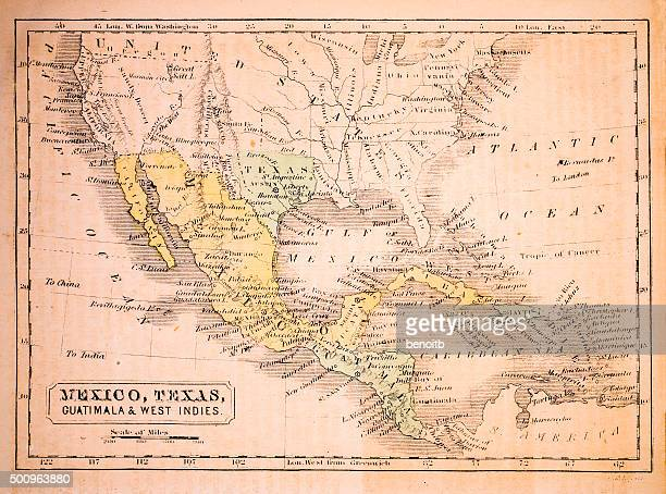 Mexico, Texas, Guatimala and West Indies 1852 Map