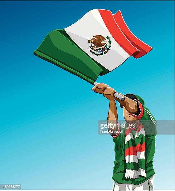 Mexico Waving Flag Soccer Fan