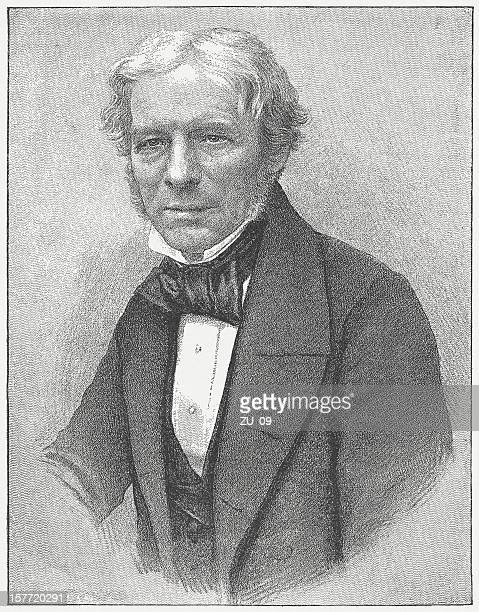 michael faraday (1791-1867), english scientist, engraving, published in 1882 - michael faraday stock illustrations, clip art, cartoons, & icons