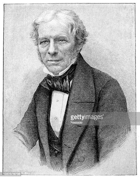 michael faraday (22 september 1791 – 25 august 1867) was a british scientist who contributed to the study of electromagnetism and electrochemistry - michael faraday stock illustrations, clip art, cartoons, & icons