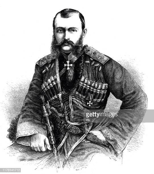 michael nikolayevich, grand duke of russia - czar stock illustrations