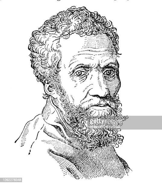 ilustrações de stock, clip art, desenhos animados e ícones de michelangelo di lodovico buonarroti simoni or more commonly known by his first name michelangelo, italian sculptor, painter, architect and poet of the high renaissance, italy, 1890 - michelangelo