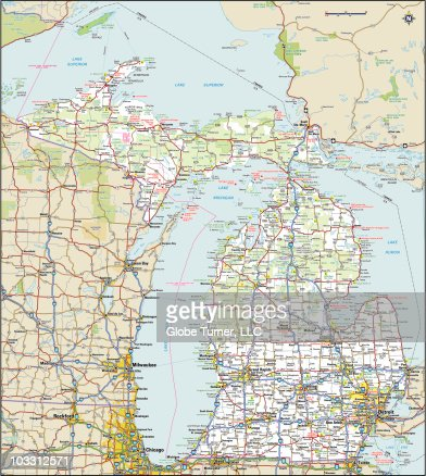 Michigan Highway Map High Res Vector Graphic Getty Images