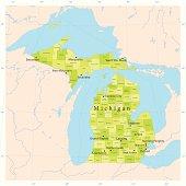 Michigan Vector Map