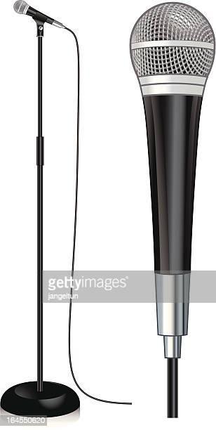 illustrazioni stock, clip art, cartoni animati e icone di tendenza di microfono - microfono