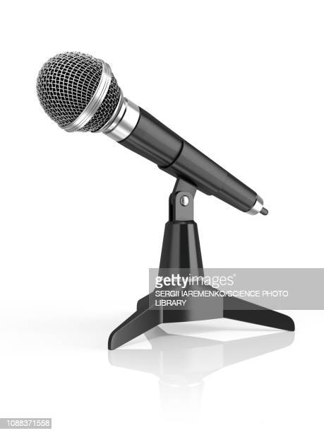 microphone, illustration - microphone transmission stock illustrations