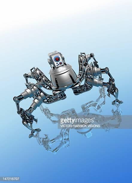 microrobot, conceptual artwork - victor habbick stock illustrations