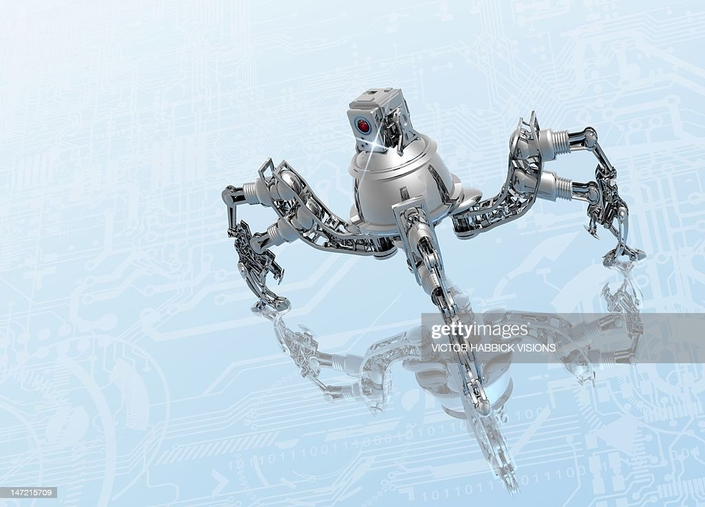 Microrobot, conceptual artwork : Stock Illustration